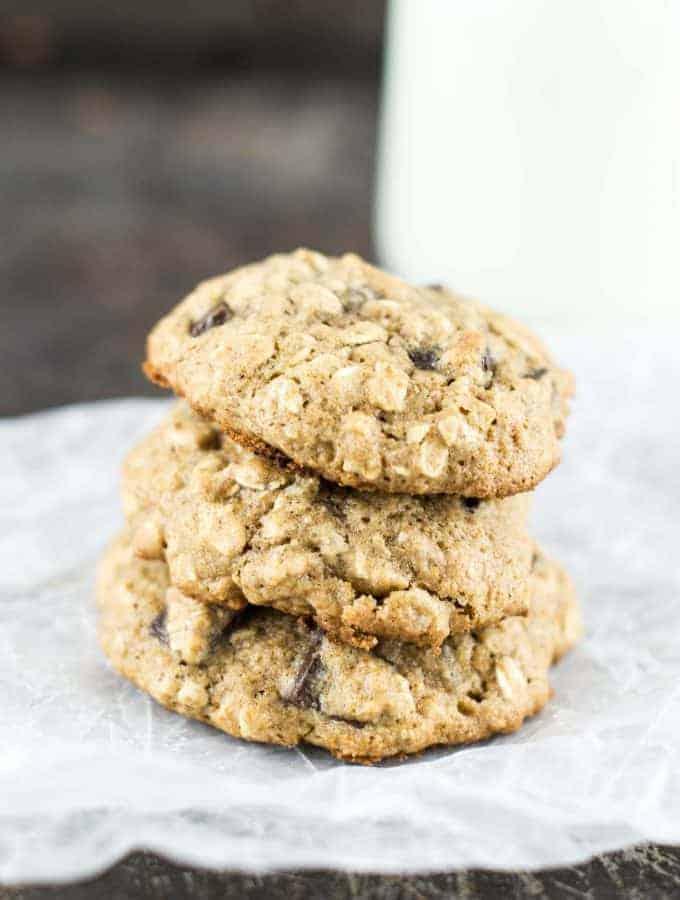 Healthy Oatmeal Chocolate Chunk Cookies
