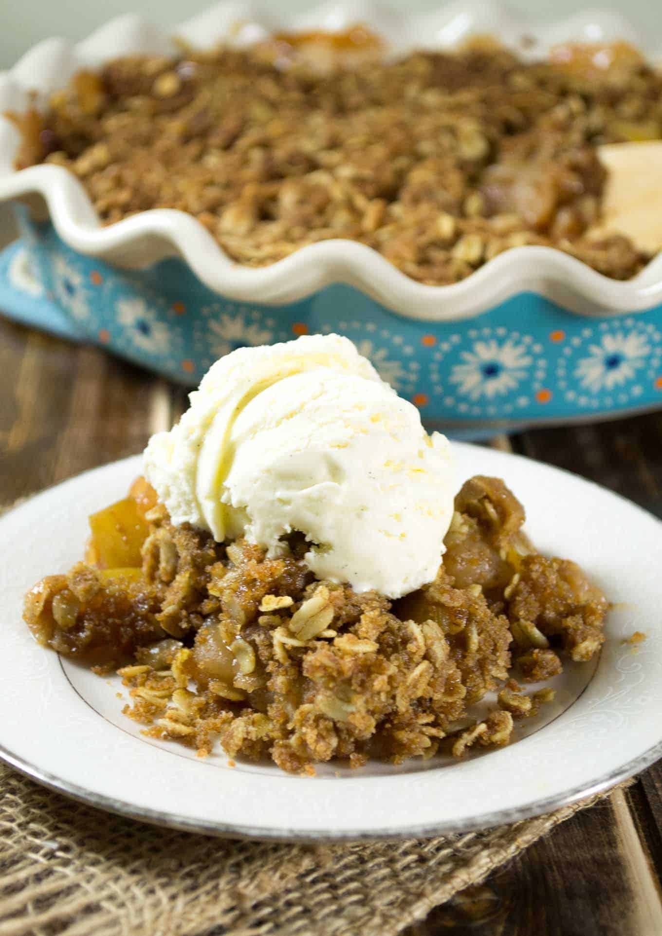 The BEST Vegan Apple Crisp Recipe - I can't get enough of this!