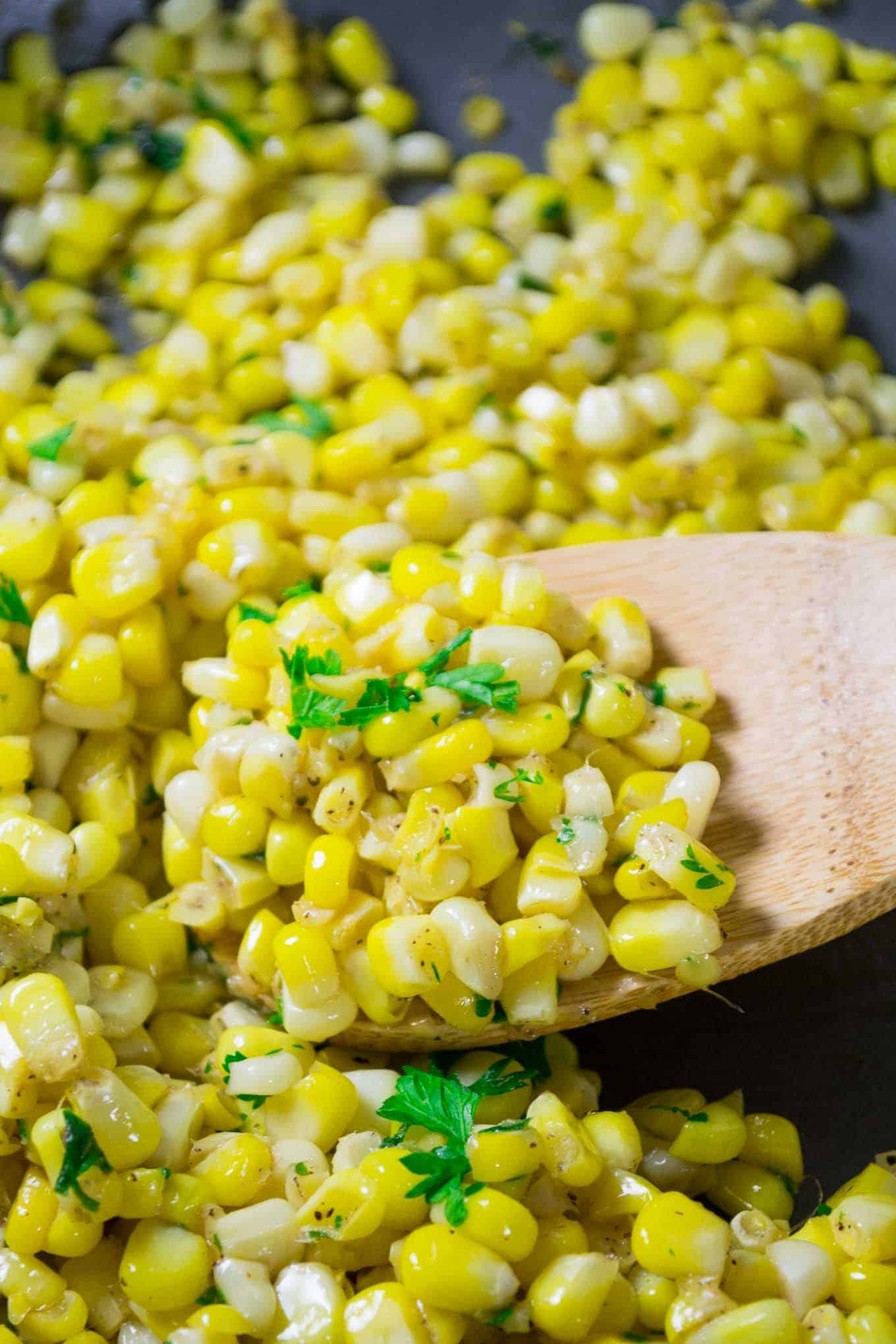 Buttery Skillet Corn Recipe - vegan, gluten free, easy