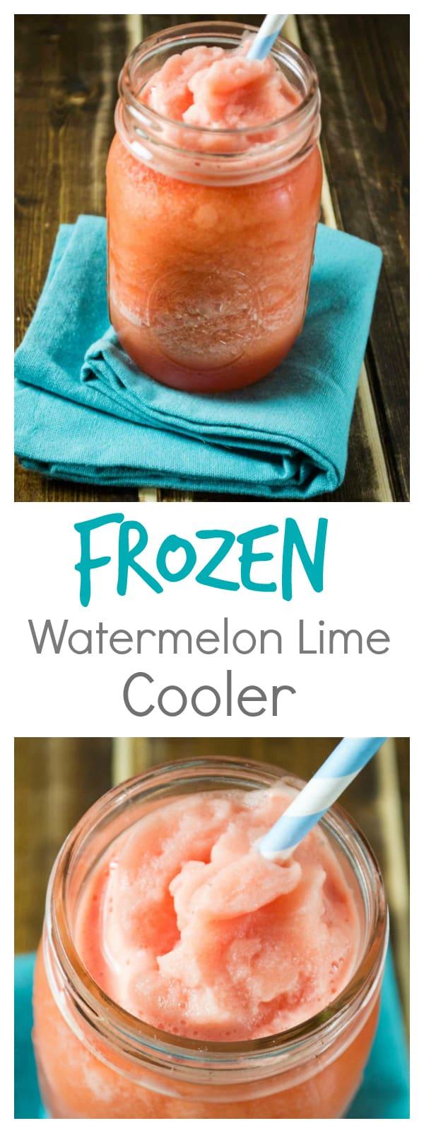 frozen watermelon lime cooler