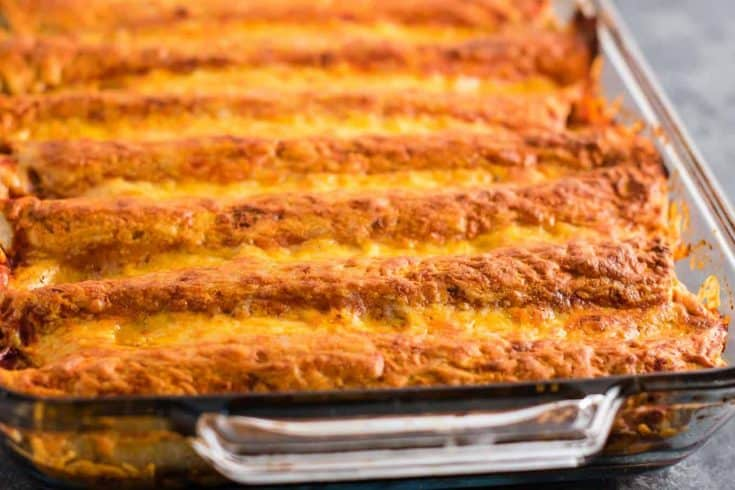 Refried Bean Enchiladas