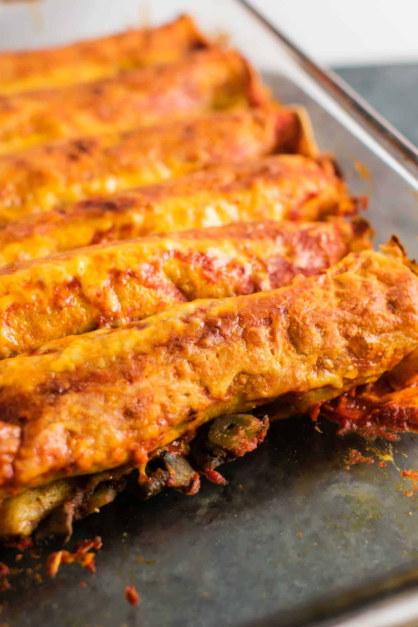 refried bean enchiladas vegetarian