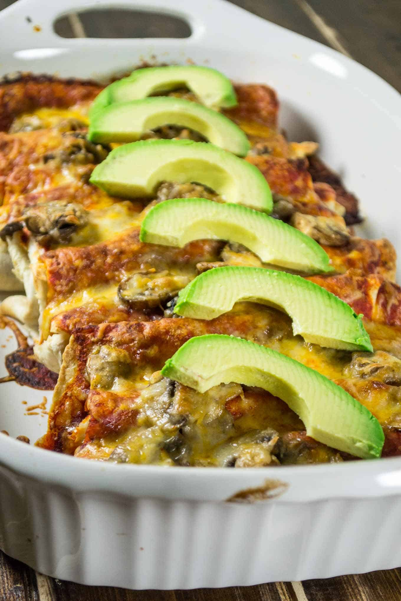 These simple refried bean enchiladas come together in minutes and are both impressive and delicious!