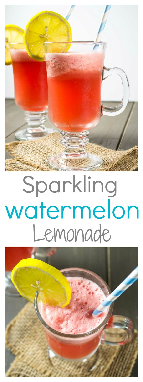 sparkling watermelon lemonade - a refreshing (and healthy) summer drink!