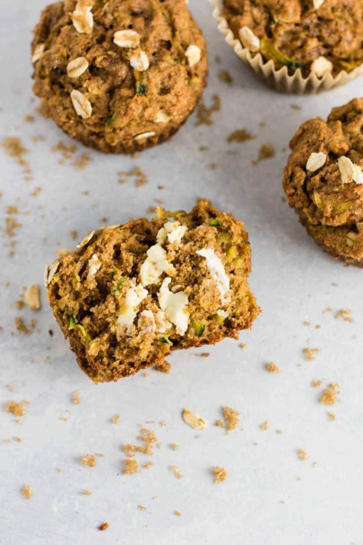 Healthy Zucchini Bread Muffins