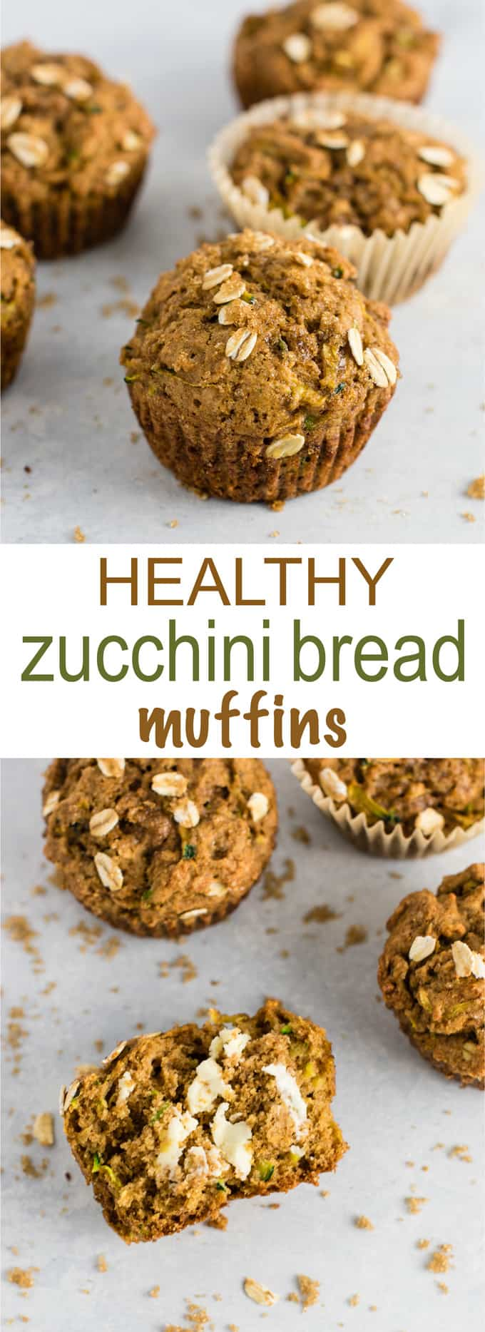 Brown Sugar Healthy Zucchini Bread Muffins recipe - melt in your mouth good! Perfect for using up all that zucchini! #zucchinibreadmuffins #healthy #healthymuffins #breakfast #vegetarian #healthybreakfast