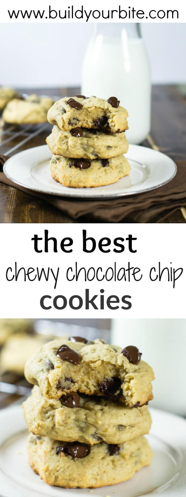 best chewy chocolate chip cookies - these taste like a cake cookie hybrid and stay soft even after cooling. Your family will love them!