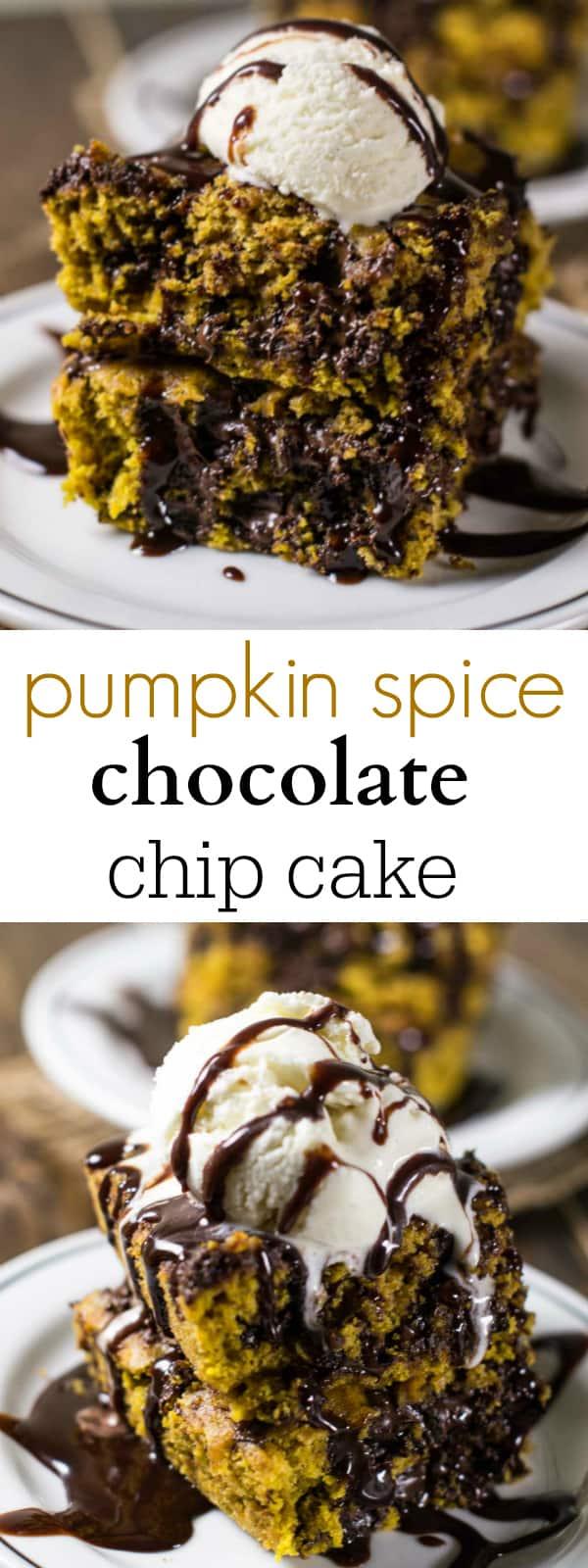 pumpkin spice chocolate chip cake