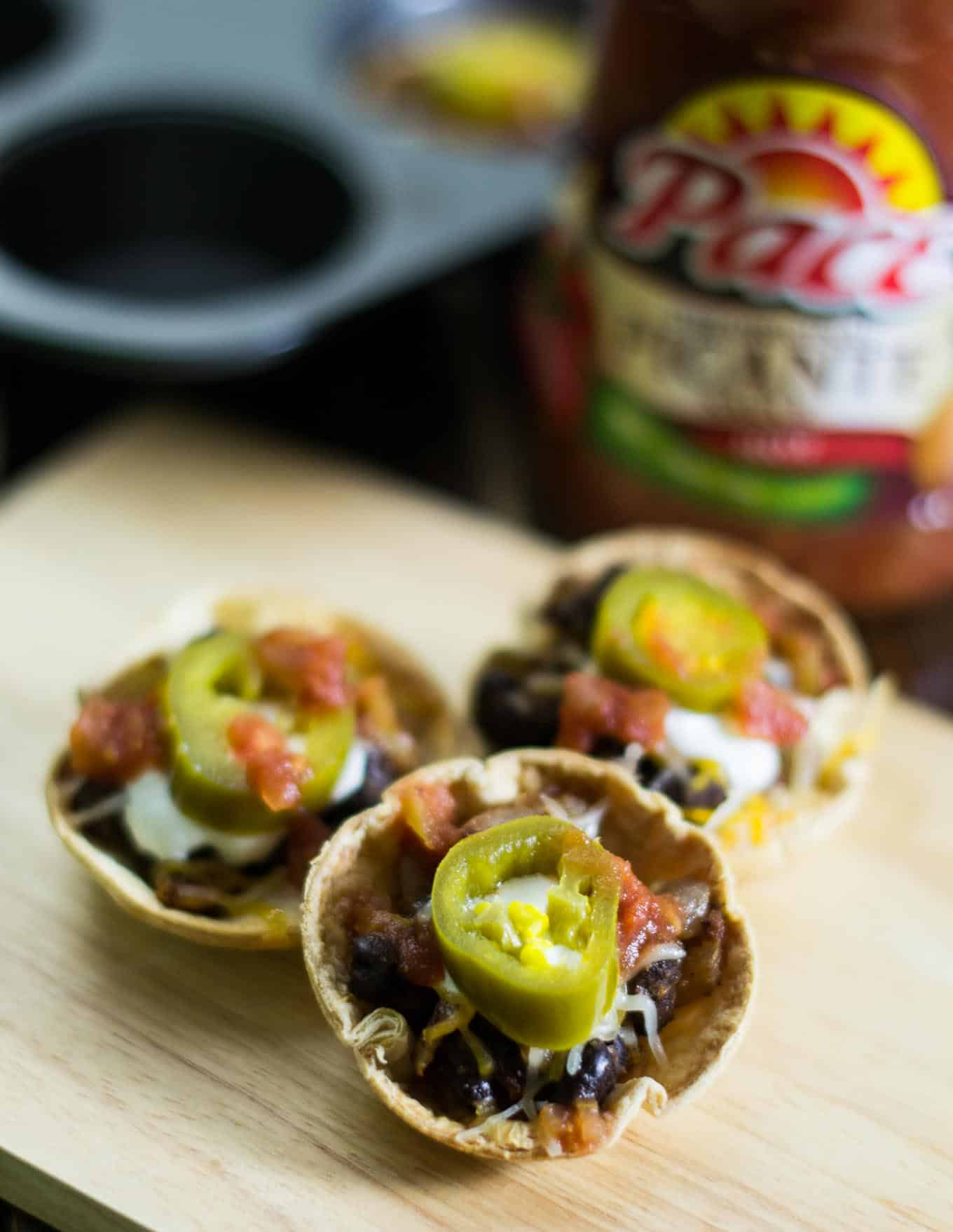 easy vegetarian taco cups