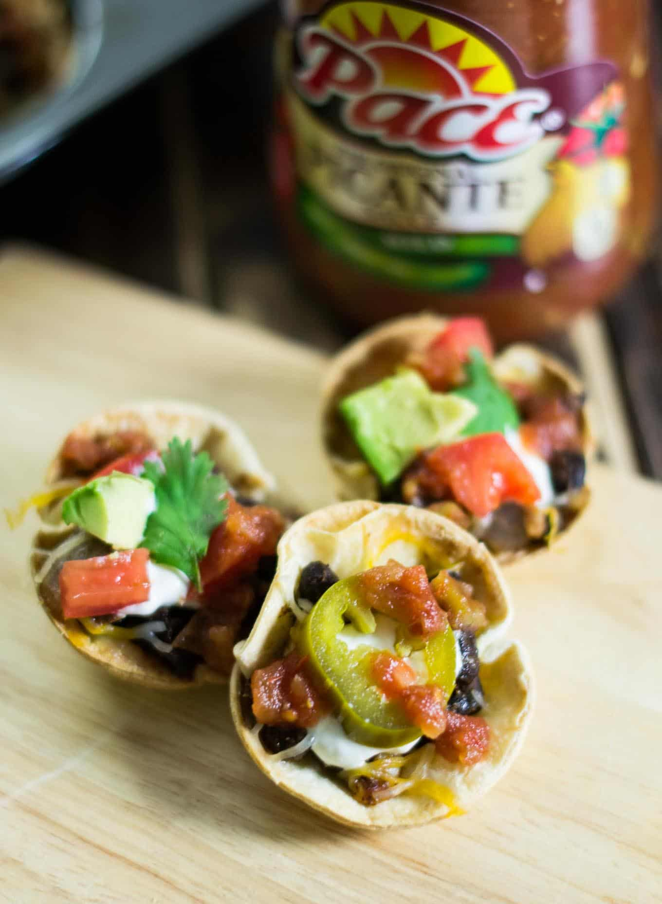 Easy vegetarian taco cups the perfect appetizer for game day easy vegetarian taco cups forumfinder Image collections
