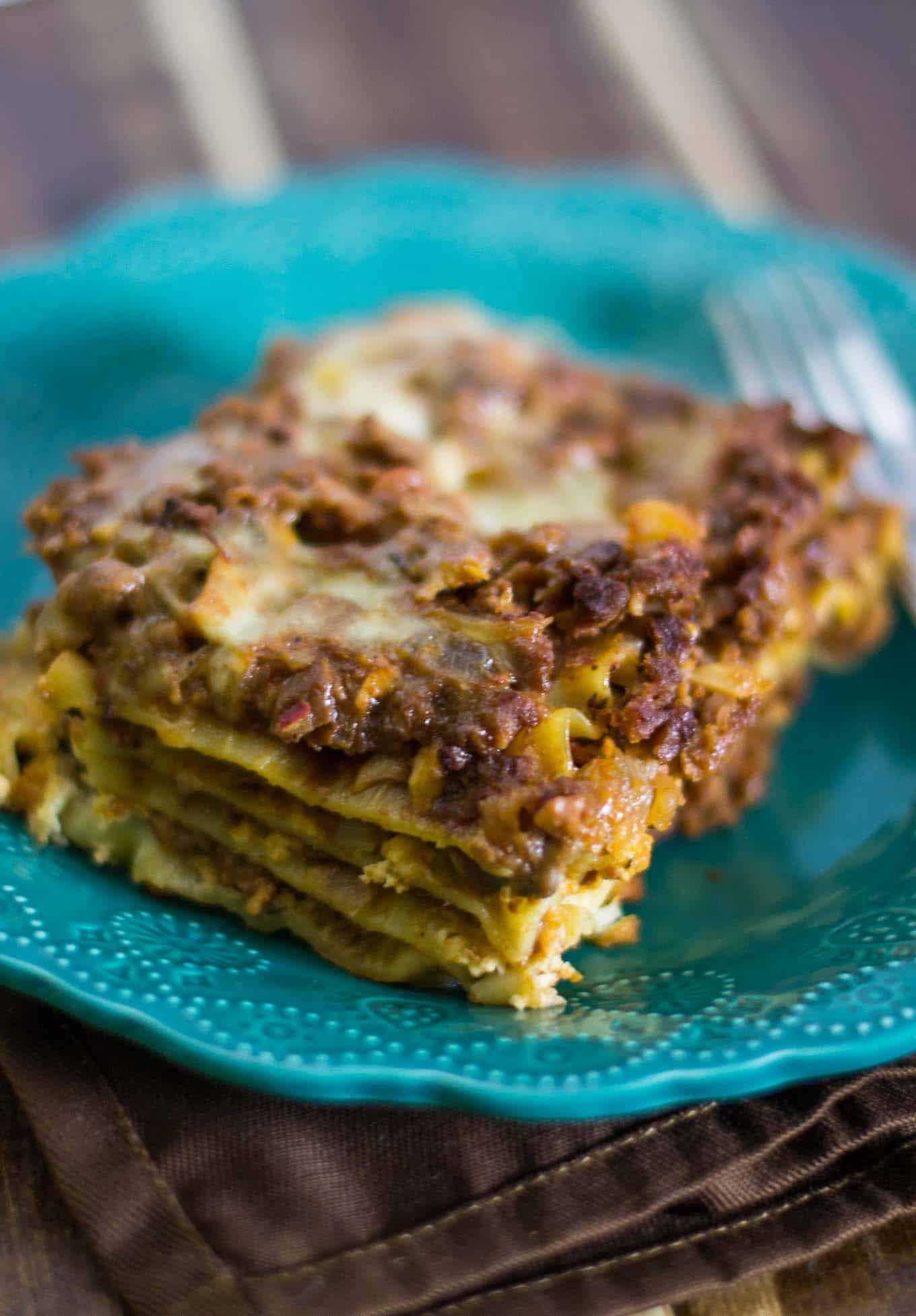 meaty vegetarian lasagna