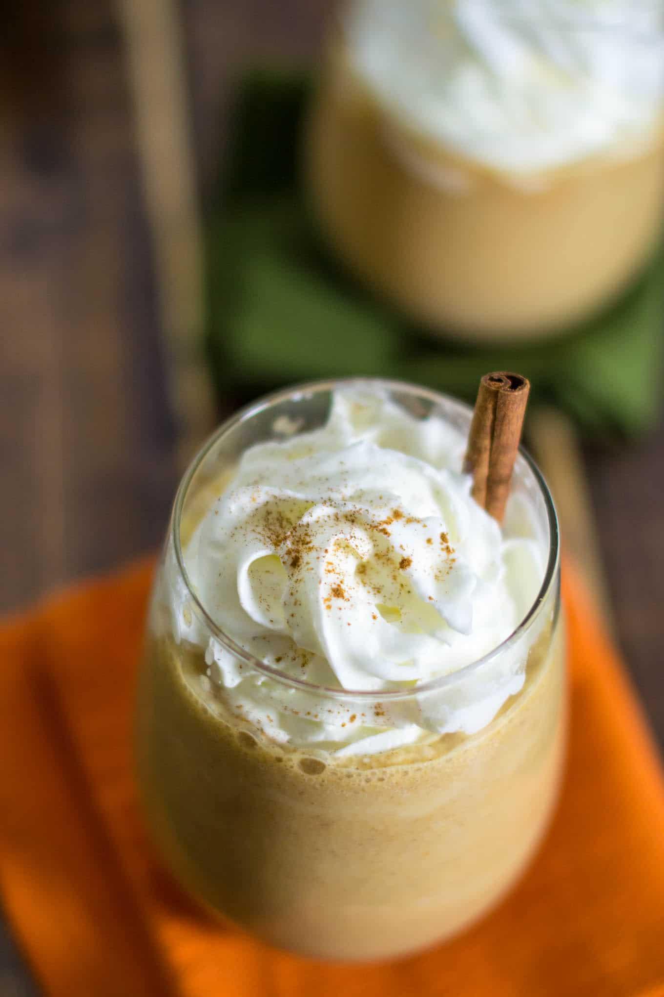 pumpkin cinnamon spice frappuccino