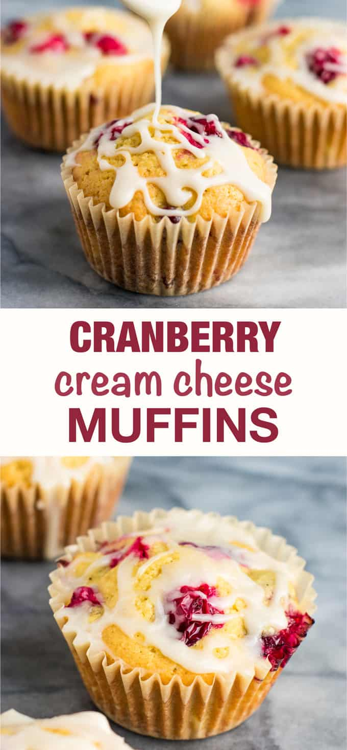 These cranberry cream cheese muffins are so delicious! Perfect homemade Christmas breakfast! #cranberry #cranberrymuffins #breakfast #christmas