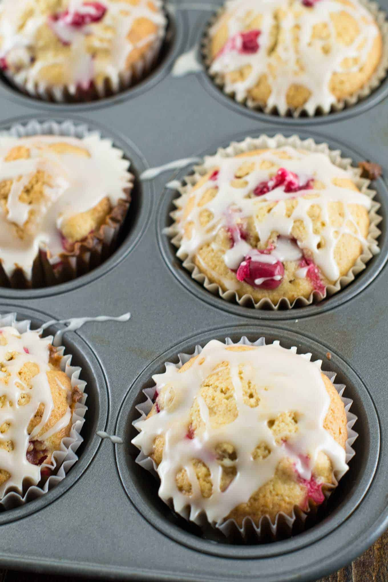 whole wheat cranberry cream cheese muffins
