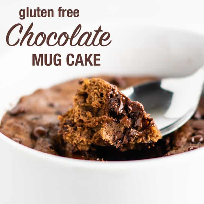 how to make a chocolate mug cake with oat flour and coconut flour. This is the BEST texture gluten free mug cake!