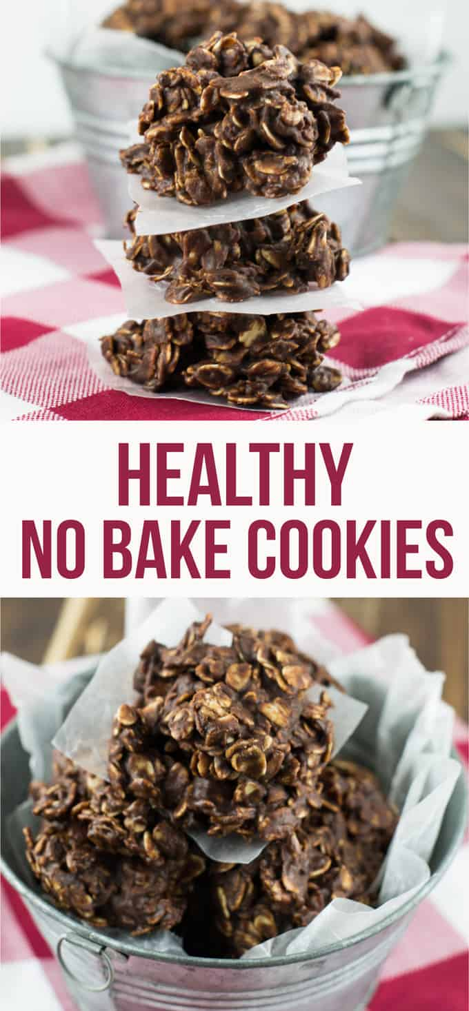 Healthy Chocolate Peanutbutter No Bake Cookies - dairy ...