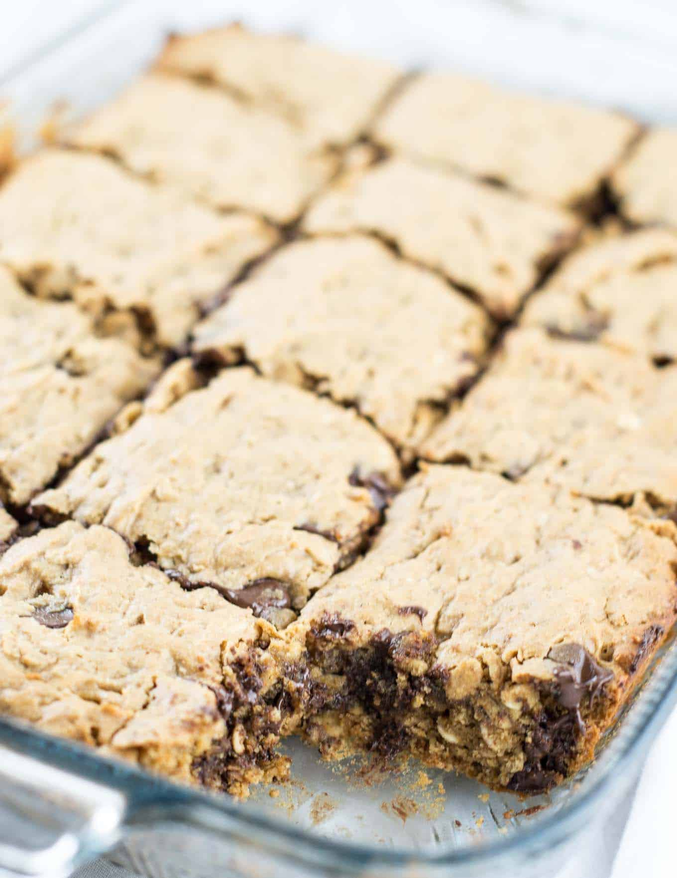 gluten free oatmeal chocolate chip bars