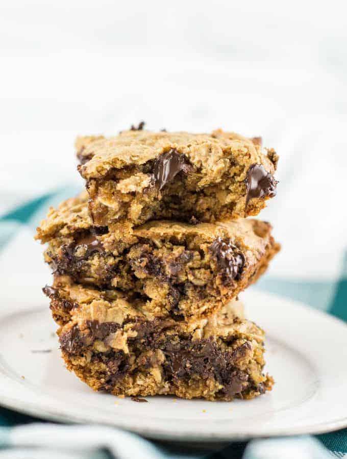 gluten-free oatmeal chocolate chip bars