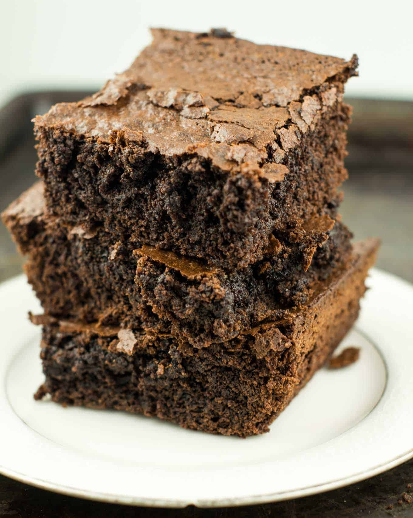 Healthy one bowl brownies