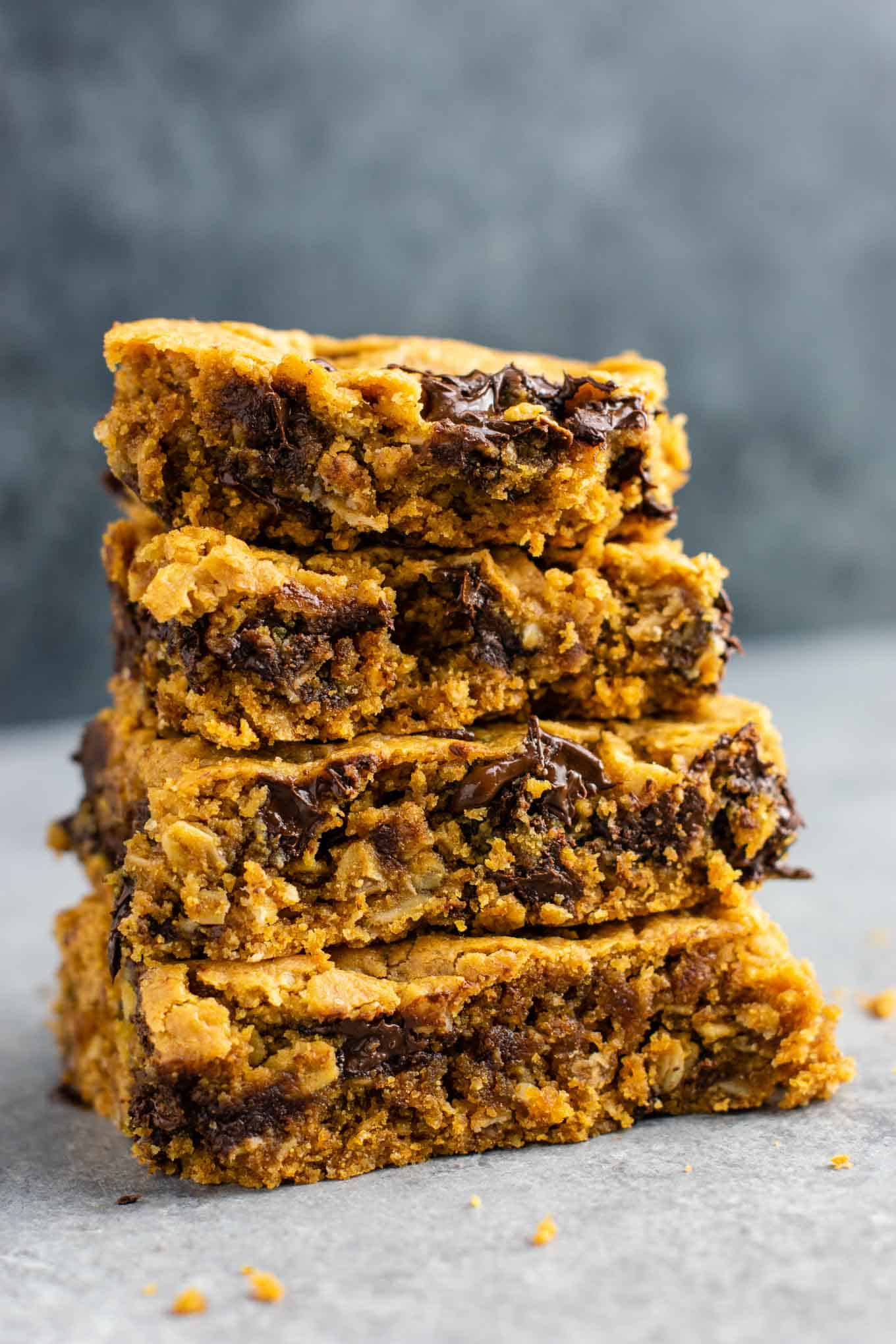 Gluten free cookie bars that are secretly healthy but taste incredibly decadent. They taste like a fancy restaurant dessert! #glutenfree #cookiebars #dessert #dairyfree #healthydessert #glutenfreedessert #glutenfreerecipe #glutenfreecookiebars