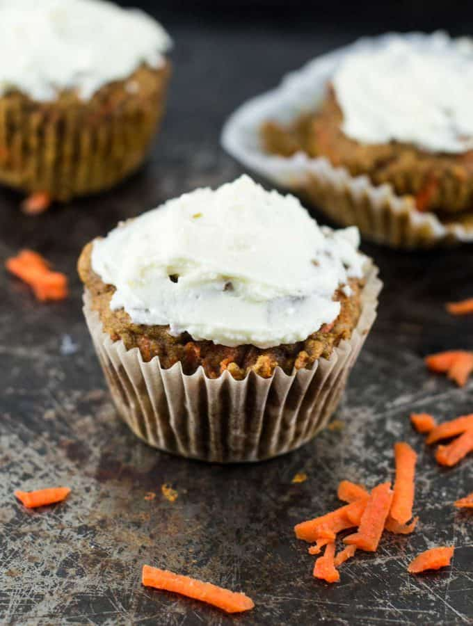 whole wheat carrot cake muffins