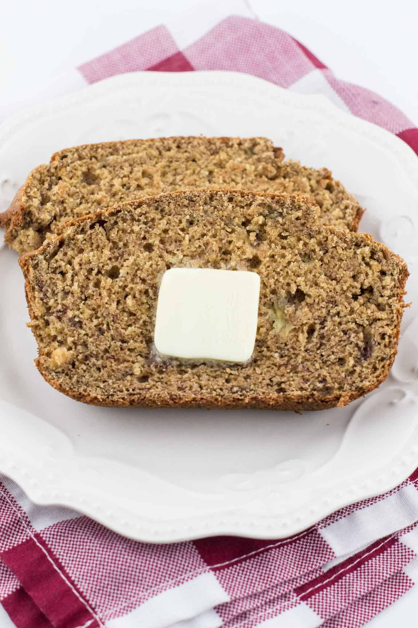 perfect whole wheat banana bread recipe
