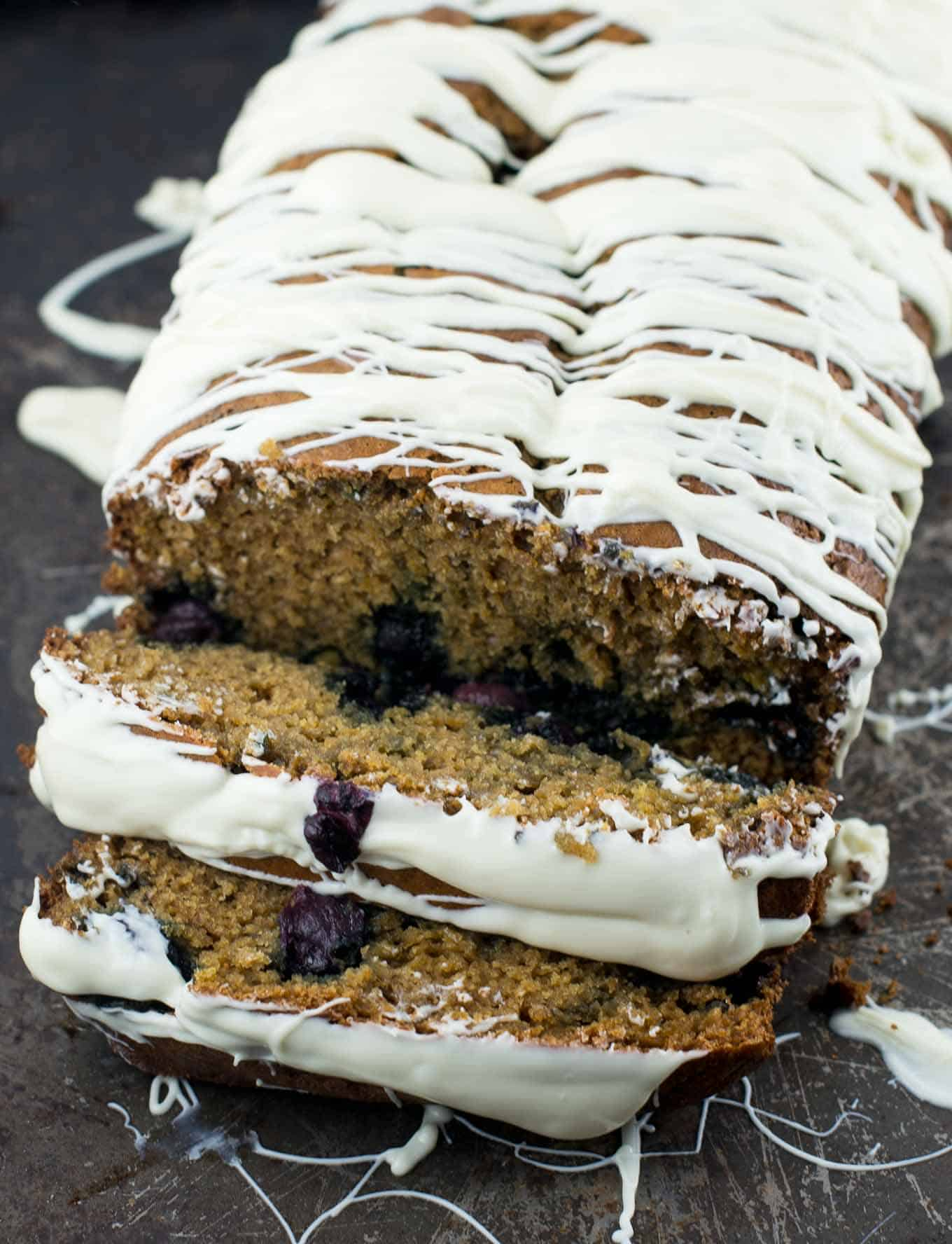 white chocolate blueberry bread