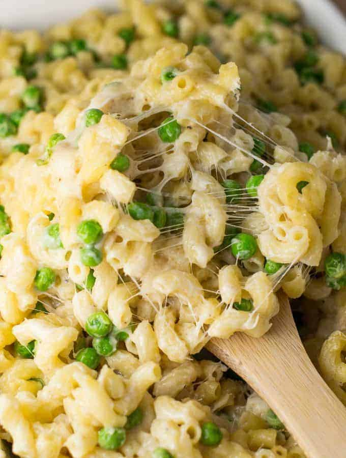 easy macaroni and peas recipe