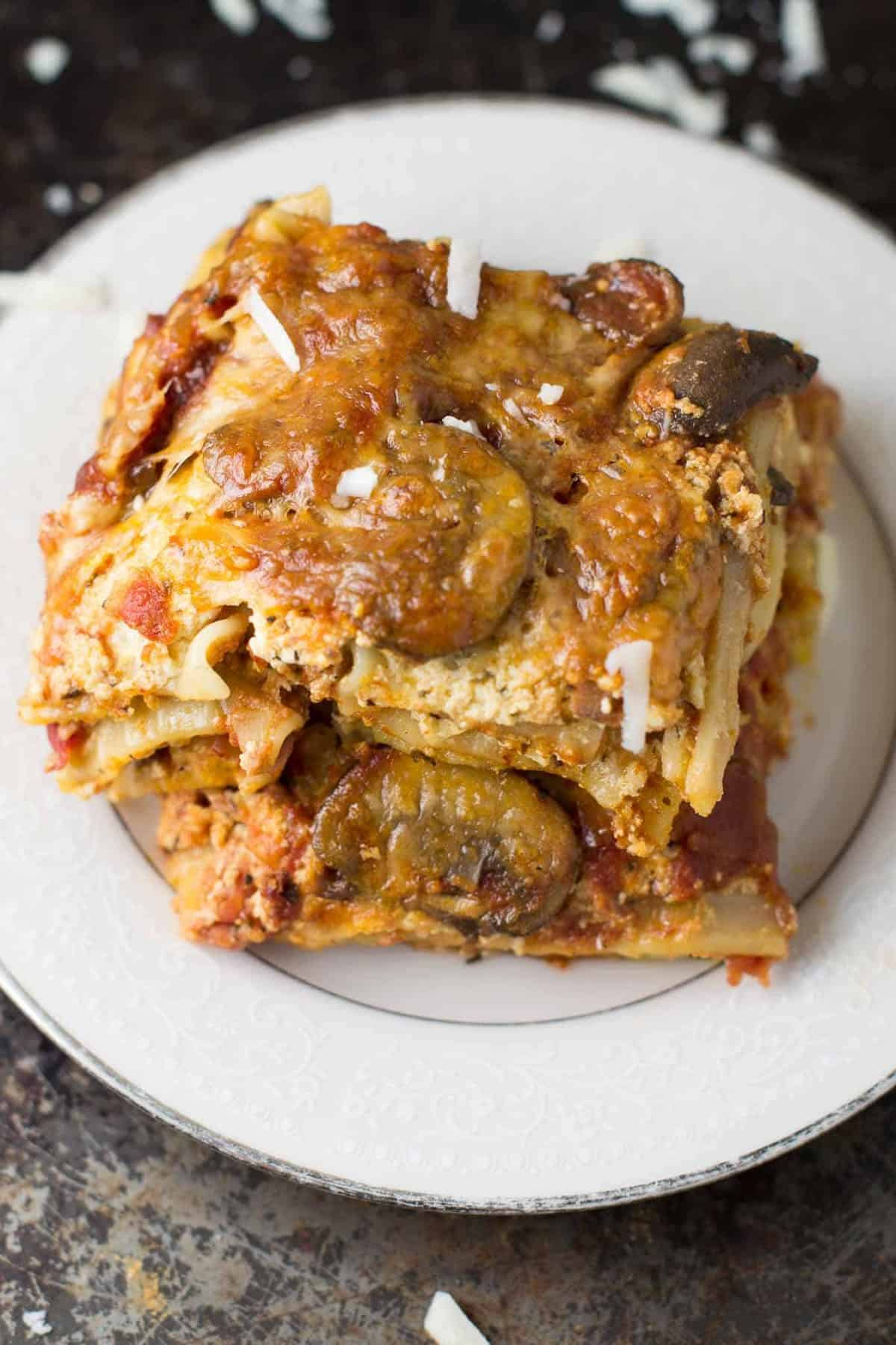 best ever mushroom lasagna