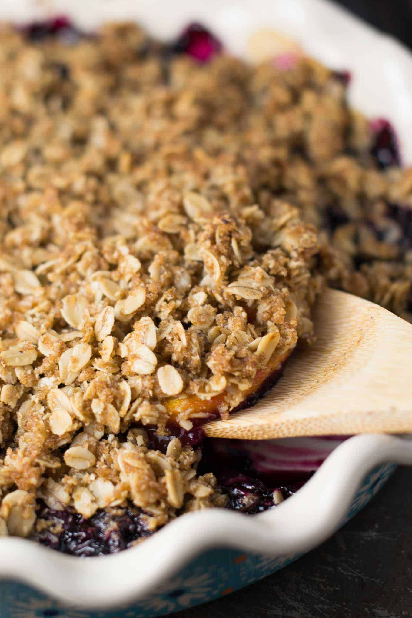 vegan crisp recipe with frozen fruit