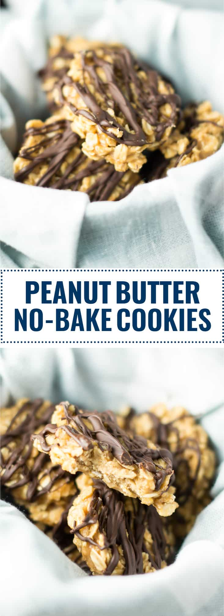 healthy peanut butter no bake cookies (vegan, gluten free)