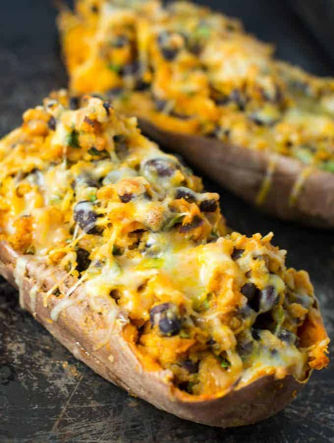 Vegetarian Mexican Stuffed Sweet Potatoes