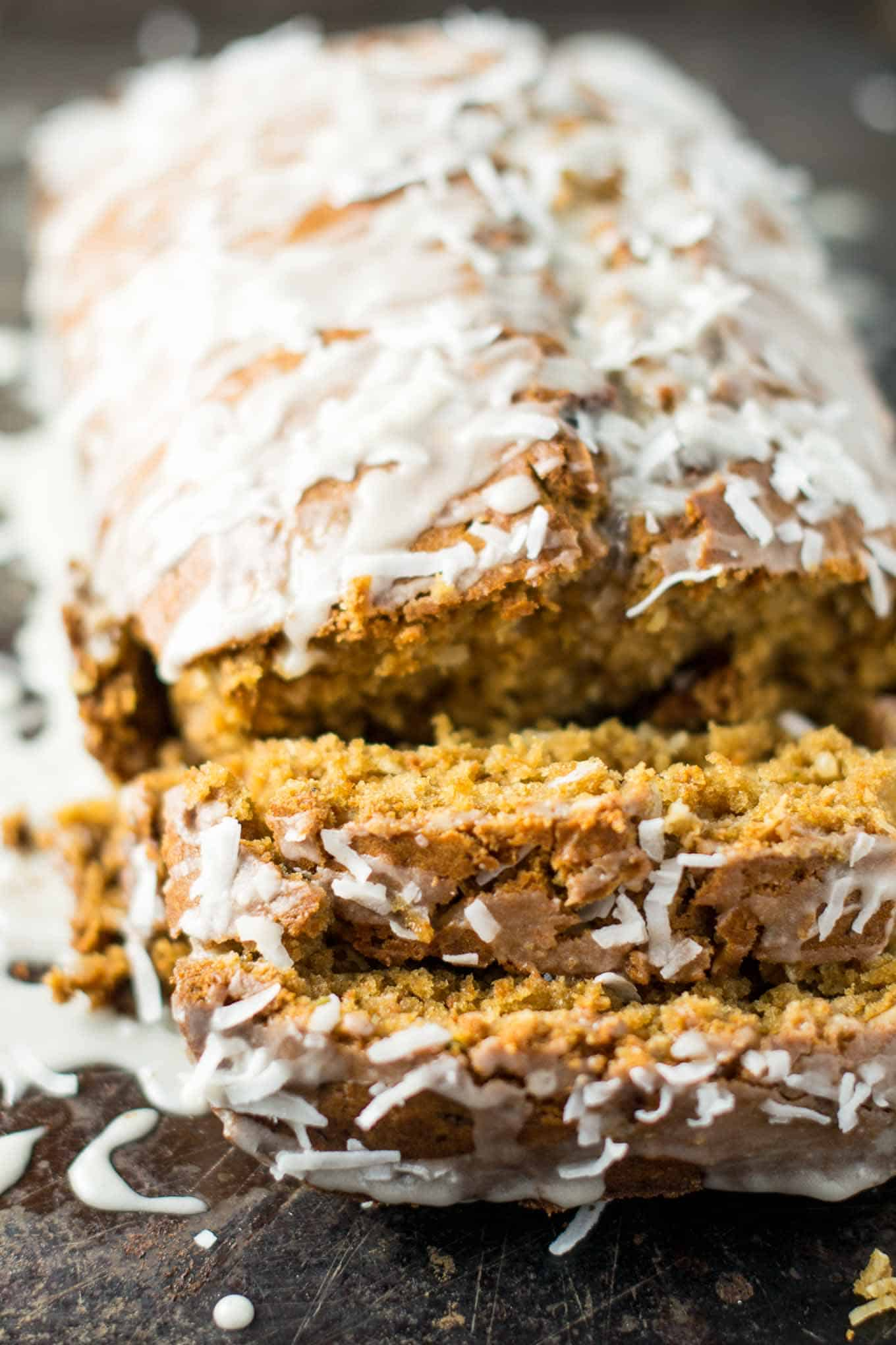 fresh tasting sweet coconut lime bread recipe made with coconut milk and limes.