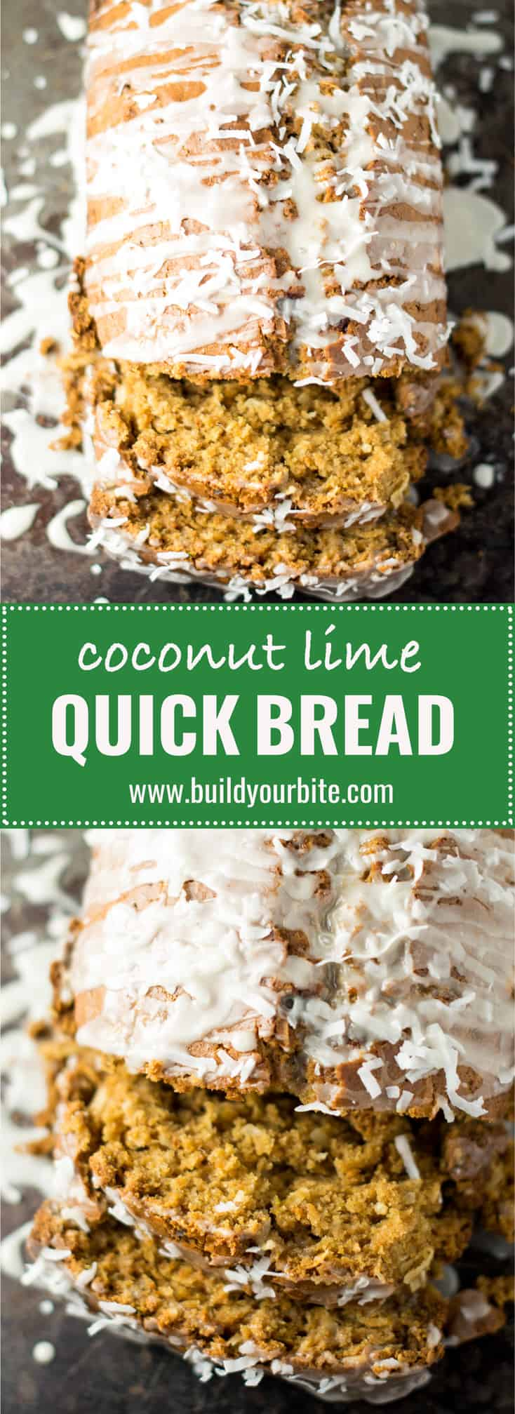 coconut lime bread with sweet lime glaze #desserts #coconutlime #coconutlimebread