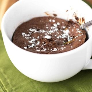 double chocolate zucchini bread mug cake