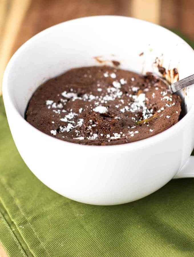 Double Chocolate Zucchini Bread Mug Cake