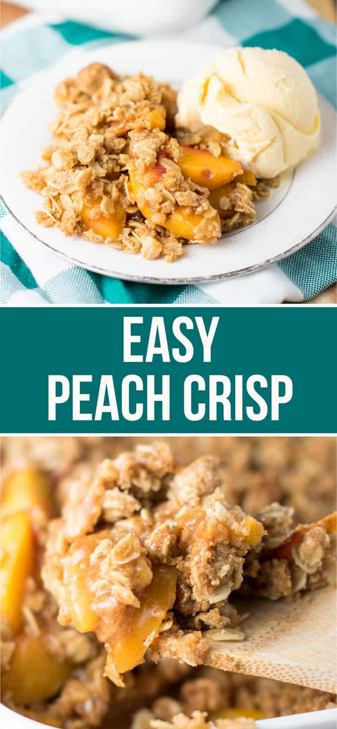 Easy peach crisp recipe #peachcrisp #dessert #peachdessert #easydessert