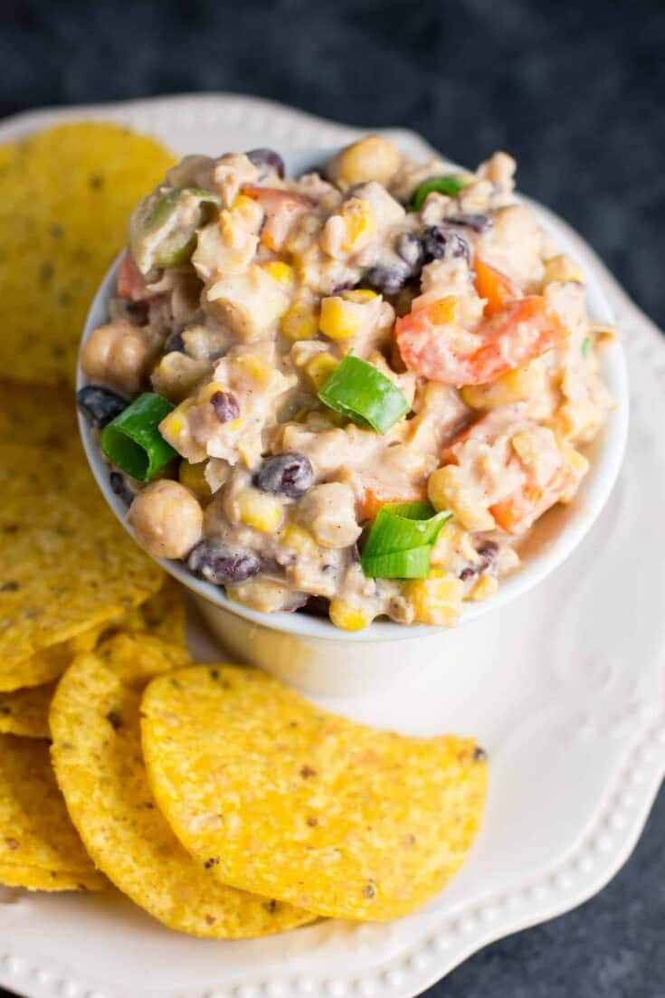 Skinny Mexican Chickpea Salad Dip