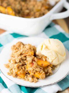 easy peach crisp recipe