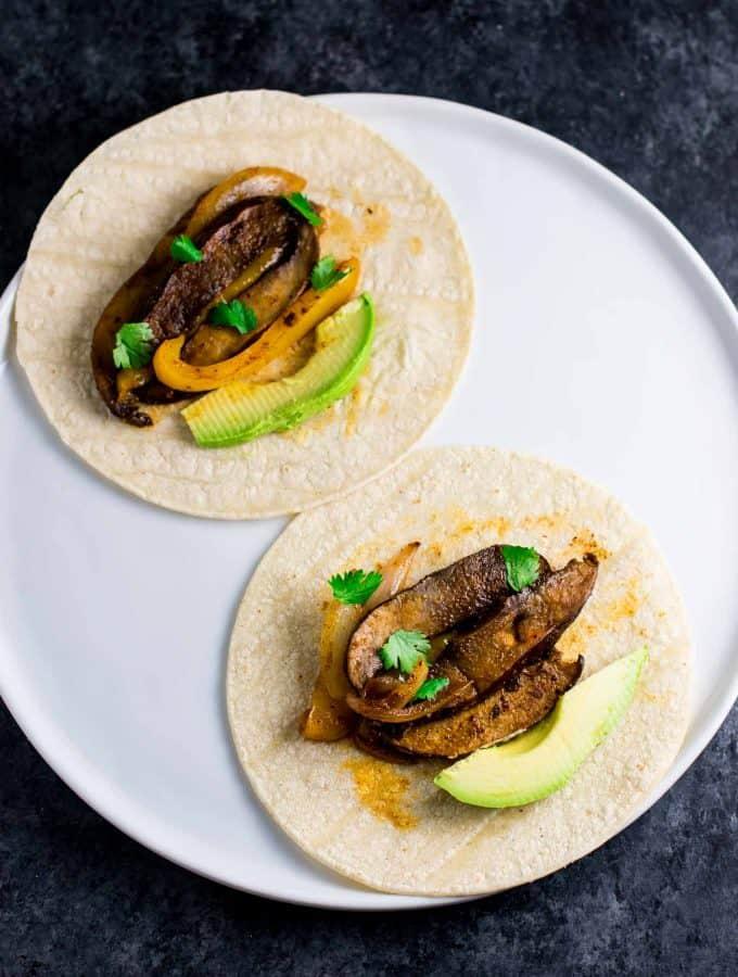 30 Minute Vegan Portobello Fajitas