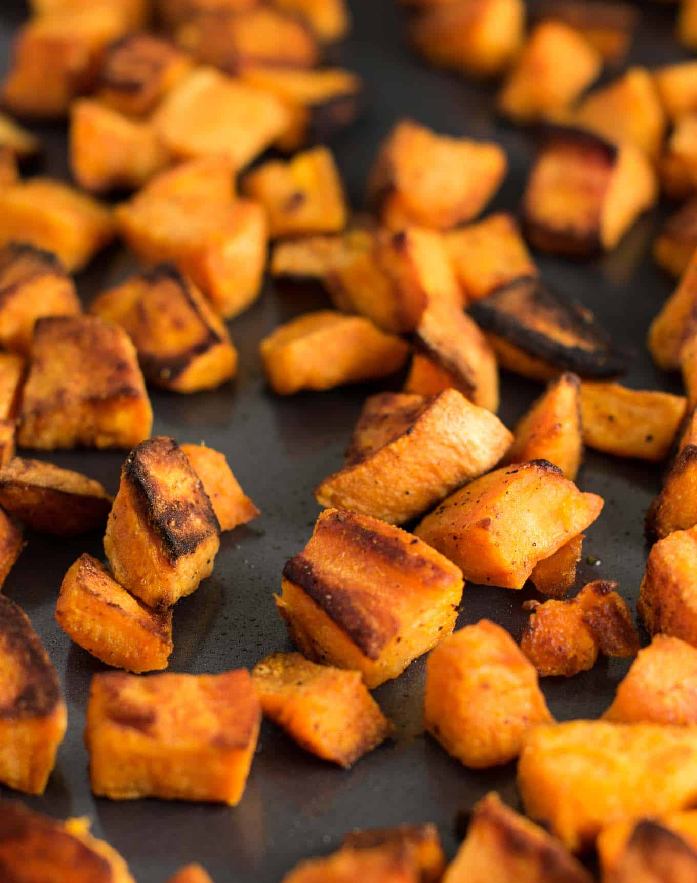 How to roast sweet potatoes - this recipe is super simple and perfect for any meal of the day!