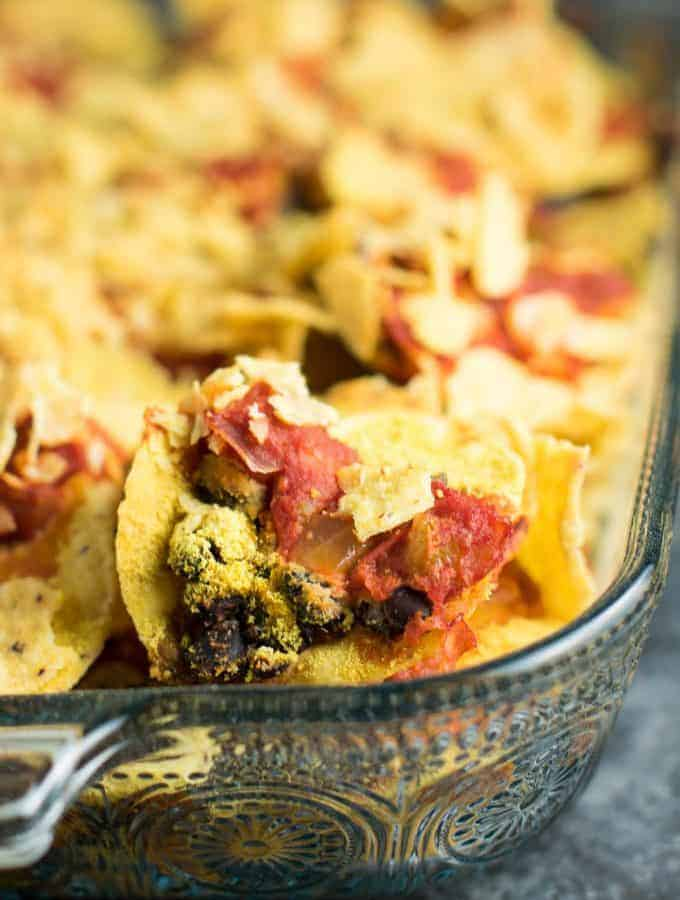 Easy Vegan Taco Bake