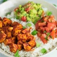 Easy Enchilada Tofu Burrito Bowls
