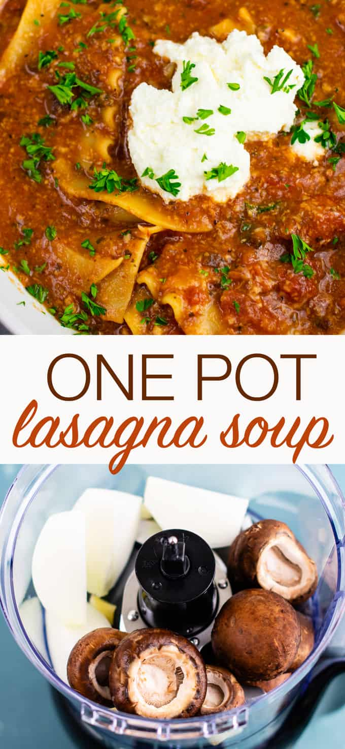 Easy one pot lasagna soup recipe (vegetarian) Ready in just 30 minutes, this is a quick and delicious meatless dinner recipe! #lasagnasoup #vegetarian #meatless #healthyeating #healthyrecipe #dinnerrecipe #dinner