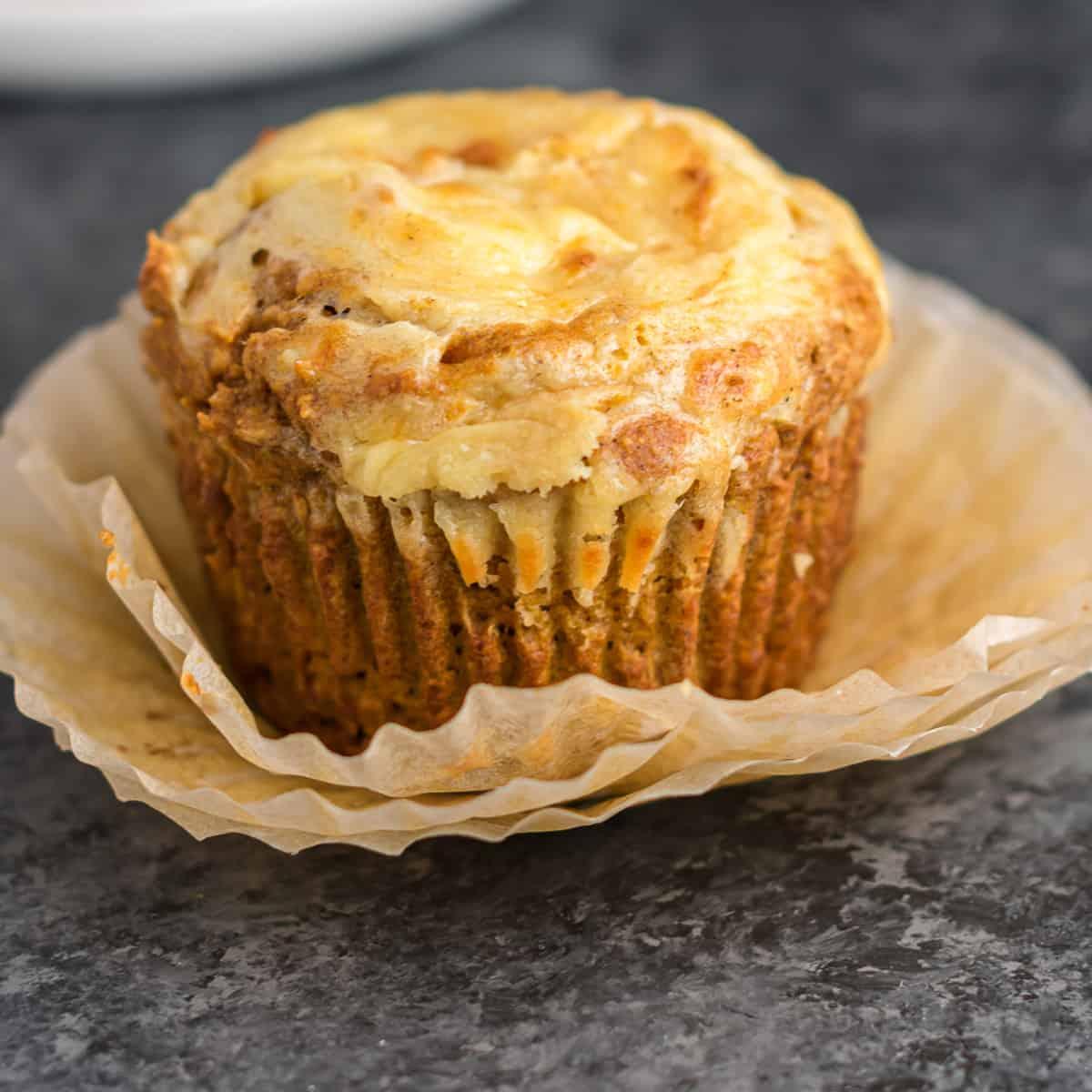 pumpkin cream cheese swirl muffin