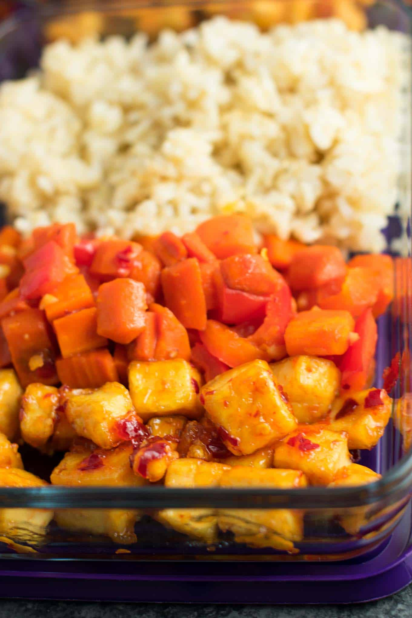 Sweet Chili Tofu Bowls - easy vegan meal prep recipe