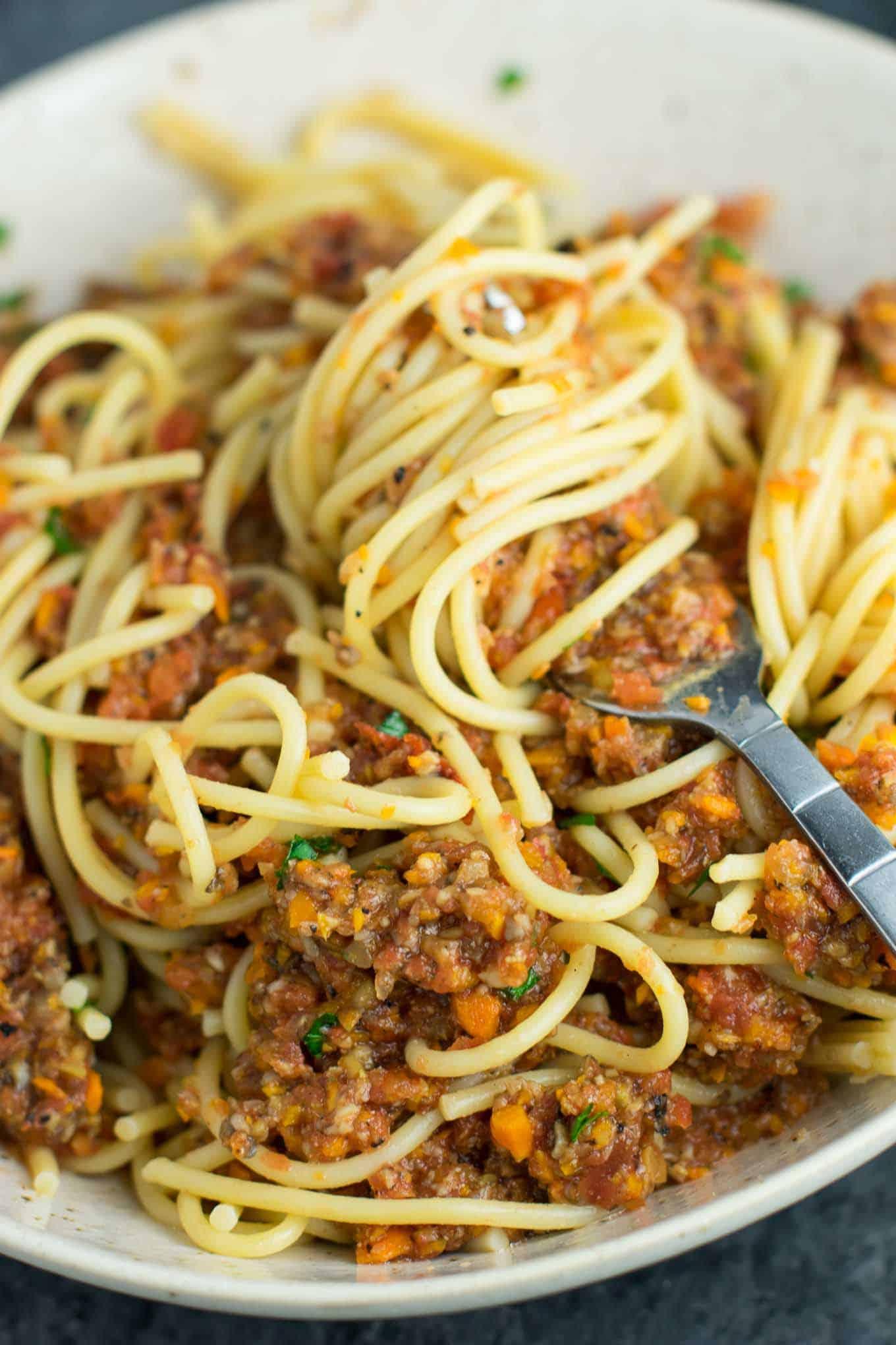 easy veggie bolognese