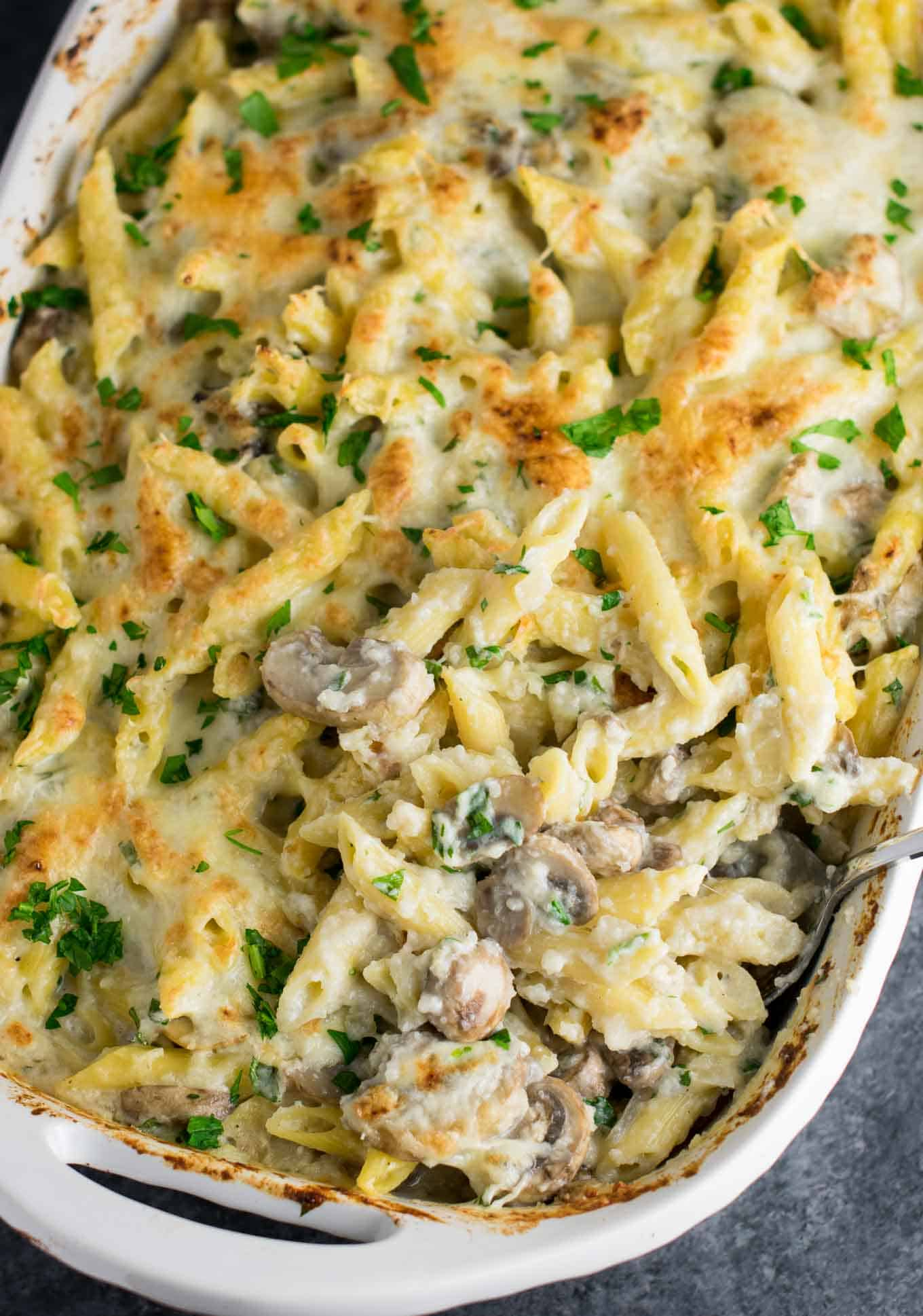 How to make a cream sauce for pasta bake