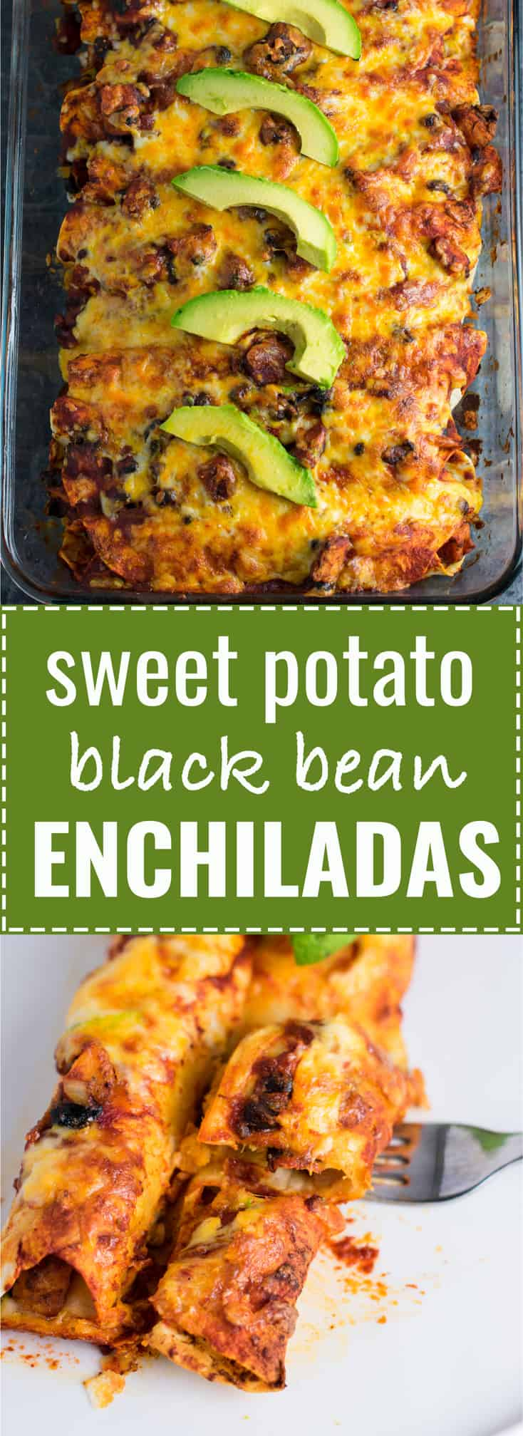 Sweet Potato Black Bean Enchiladas Recipe - with colby ...