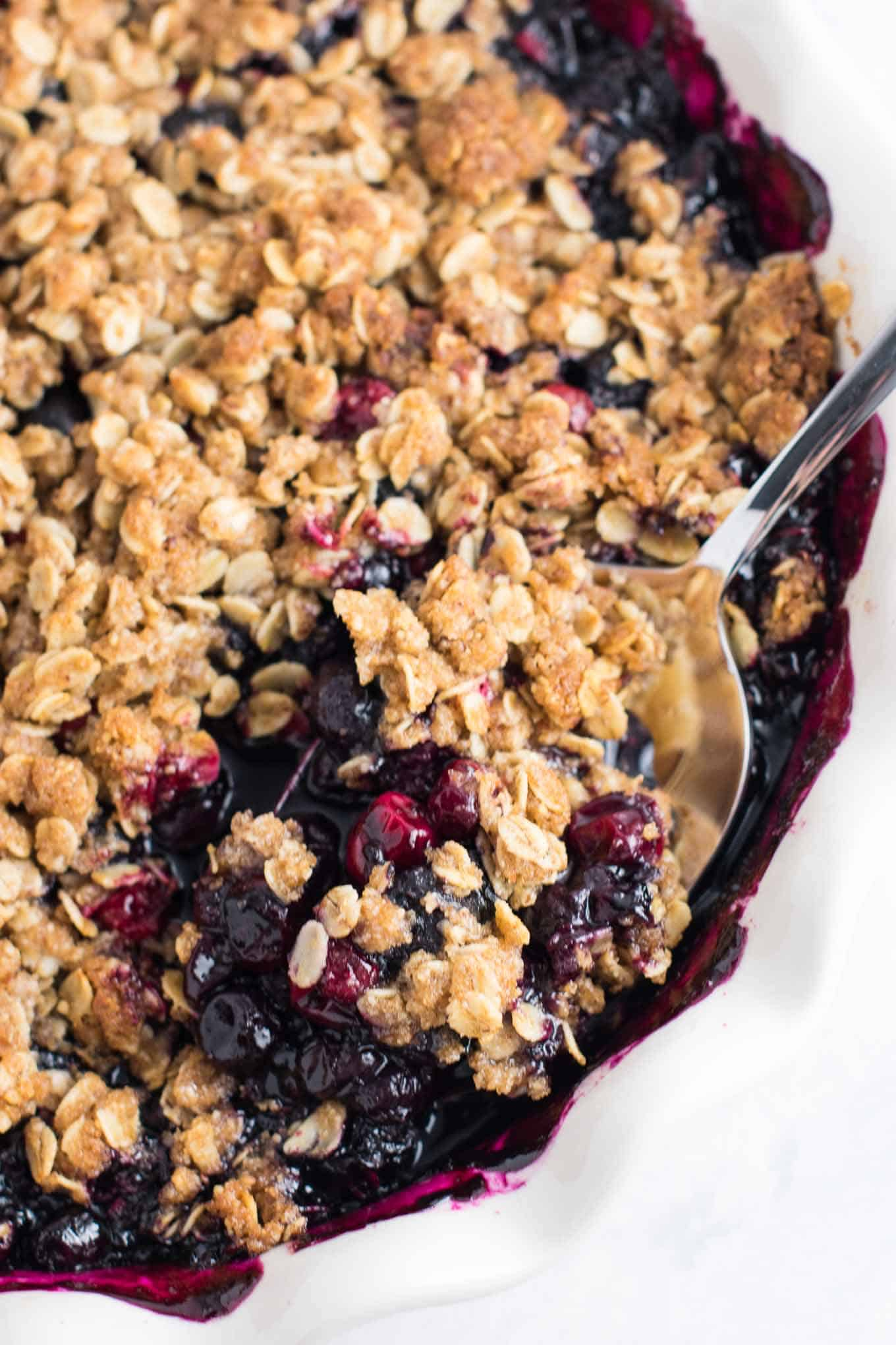 Cranberry Blueberry Crisp recipe